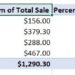 How to add a percentage column in a pivot table.